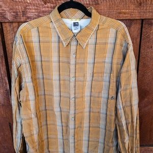 The North Face A5 Series Mens Orange Plaid Shirt